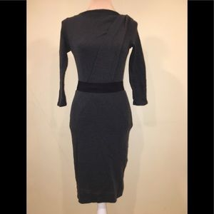 Ann Taylor Wool Stretch Belted Dress